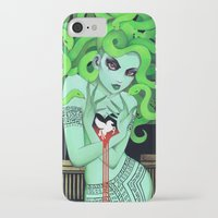 medusa iPhone & iPod Cases featuring Medusa by Leilani Joy