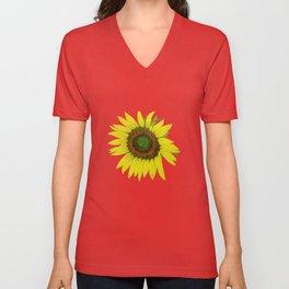 Sunflower painted  Unisex V-Neck