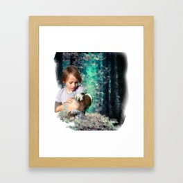 Don't be afraid to cry Framed Art Print