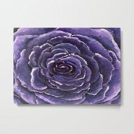 Purple Rose Close Metal Print