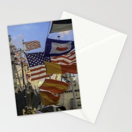 Full Flagged Ship Stationery Cards