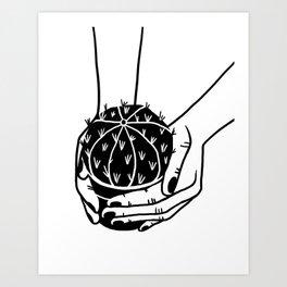 Cactus graphic illustration Art Print