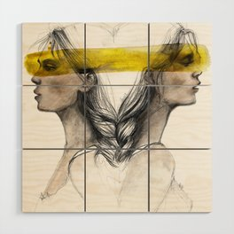 Twins sisters soulmates Wood Wall Art