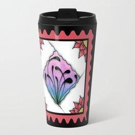 Fescu Tile on Pink Travel Mug