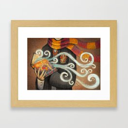 Books magic Framed Art Print