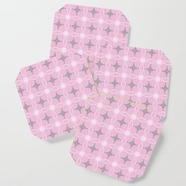 Duchess pink and grey Coaster