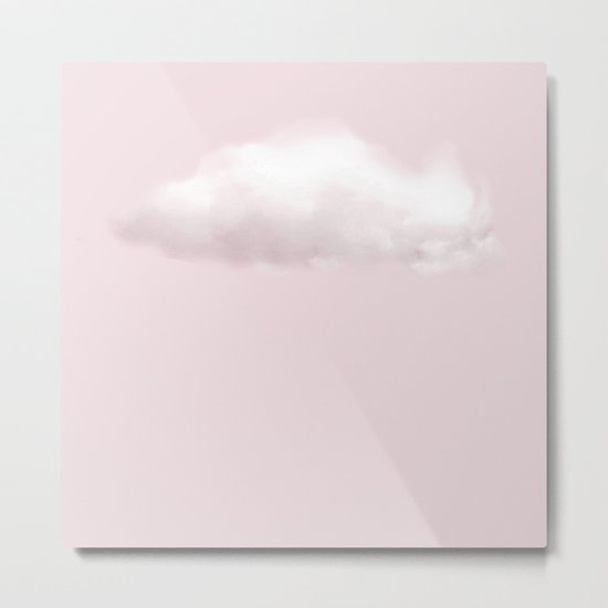 BLUSH COTTON CANDY CLOUD Metal Print