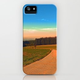 Hiking into the sunset | landscape photography iPhone Case