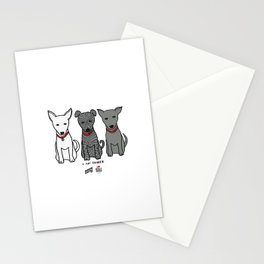 3 Musketeers, I Love Bali Dogs Stationery Cards