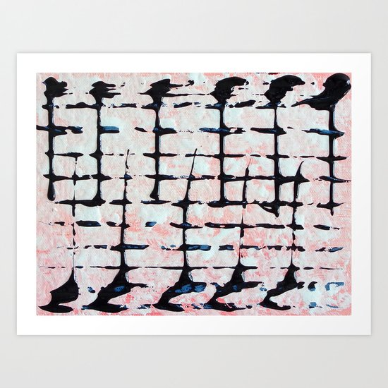 Music Note - abstract painting Art Print