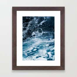 ocean, sea, blue print, blue art, photography, Framed Art Print