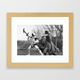 Let's fight! Framed Art Print