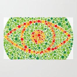 Colour Blindness Eye Rug