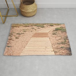 A Beautiful Spring Day at the Beach Rug