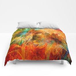 sunflower vintage Comforters