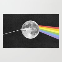 dark side of the moon Area & Throw Rugs featuring Dark Side of the Moon. by Nick Nelson