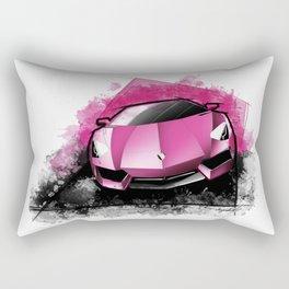 Lamborghini Aventador LP700-4 (Pink October) Rectangular Pillow