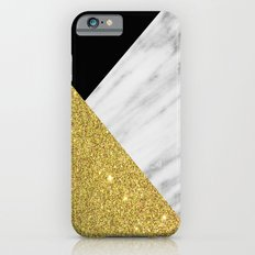 Marble & Gold Geometry Slim Case iPhone 6