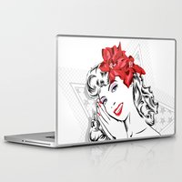 pinup Laptop & iPad Skins featuring Pinup Girl  by dedend graphic design studio