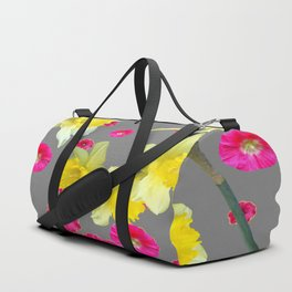 FUCHSIA FLOWERS & YELLOW DAFFODILS DESIGN Duffle Bag