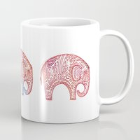 elephants Mugs featuring Elephants by Alibabaform