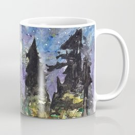 Campfire Under a Full Moon Coffee Mug