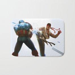 Marvel VS Capcom: Captain America VS Ryu Bath Mat