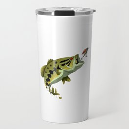 I Fish Largemouth Bass Everything Else Is Bait Travel Mug
