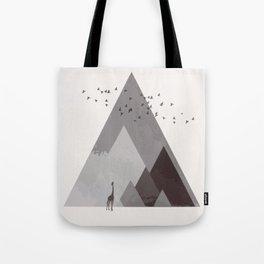 Rocky mountain geometric landscape Tote Bag