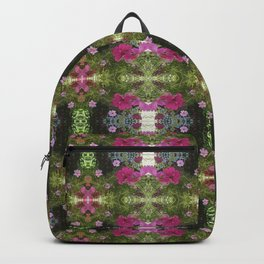 Pink and White Flowers reflection Backpack