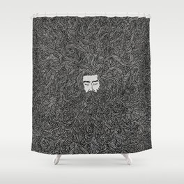 Lads' Hair Shower Curtain