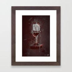 DARK MICROPHONE Framed Art Print