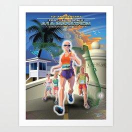 Fort Lauderdale A1A Marathon Art Print
