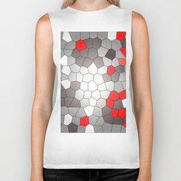 Mosaik grey white red Graphic Biker Tank
