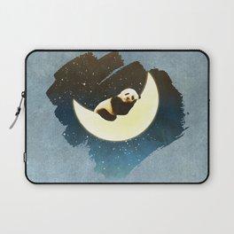 Sleeping Panda on the Moon Laptop Sleeve