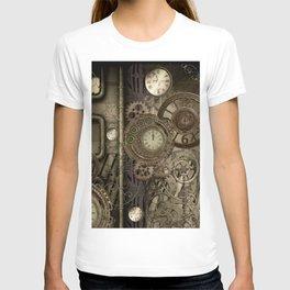 Steampunk, clocks and gears T-shirt