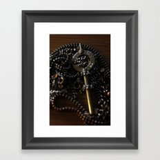 The Key to My Heart is a Handcuff Key Framed Art Print