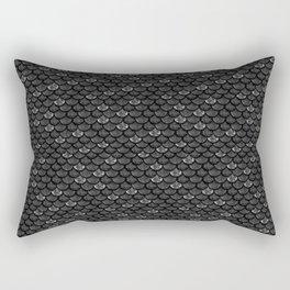 Glitter Fish Dark Scales Rectangular Pillow