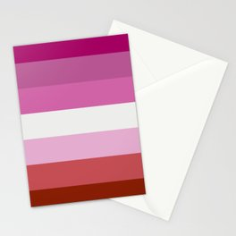 Lesbian Flag Stationery Cards
