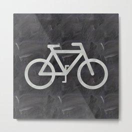 Bicycle on chalkboard Metal Print