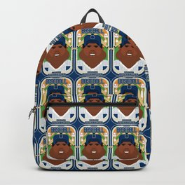 Baseball Blue Pinstripes - Rhubarb Pitchbatter - Hayes version Backpack