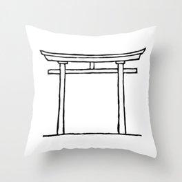 Torii door Throw Pillow