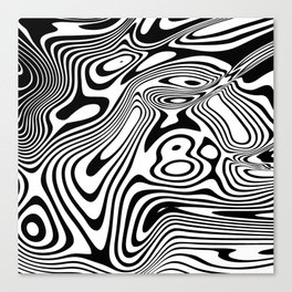 Black and White Marble Pattern Canvas Print