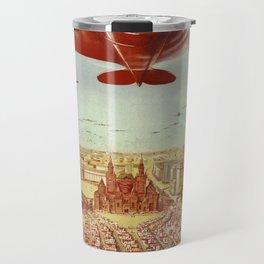 Vintage poster - Russian plane Travel Mug