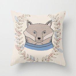Alpine Adventure - Nigel the Fox Throw Pillow