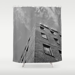 Building in Seoul Shower Curtain