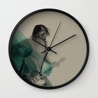 dave grohl Wall Clocks featuring Dave Grohl by Daniel Cisneros
