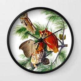 Little Screech Owl Wall Clock