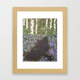 Hydrangeas in the Woods Framed Art Print