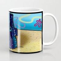spongebob Mugs featuring Spongebob by LilBroxc